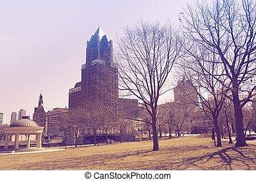 Milwaukee Park. Milwaukee, Wisconsin, United States....