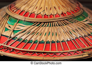 colorful of Vietnamese-style hat