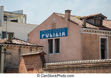 Venice Police Station - Old plaster Police station in Venice...