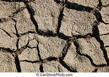 dry soil - dry and cracked soil in hot summer on a farm