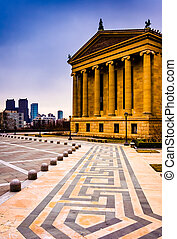 The Art Museum and skyline in Philadelphia, Pennsylvania