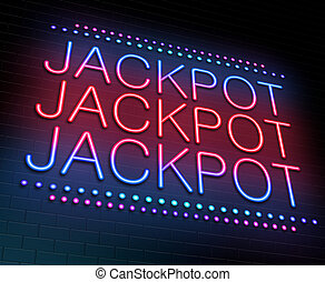 Jackpot concept. - Illustration depicting an illuminated...
