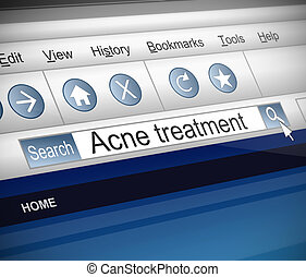 Acne concept. - Illustration depicting a screenshot of an...