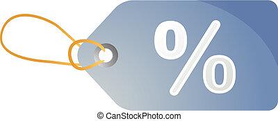 Percent discount tag