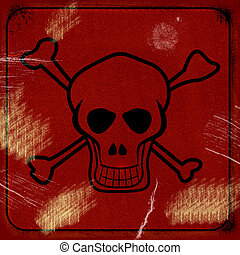 Poisonous sign on grunge background
