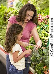 madre, hija, producto, sección