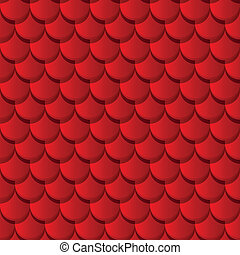 Red clay roof tiles seamless pattern