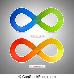 Colorful Vector Paper Infinity Symbols Illustration