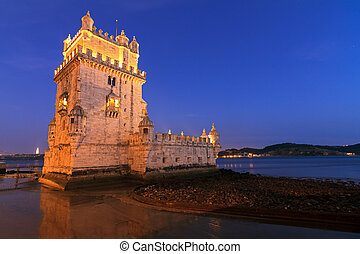 Blue hour Belem - Beautiful image of the famous Belem tower...