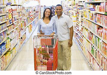 par, inköp,  Supermarket