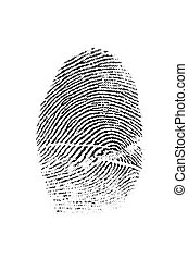 Closeup of a Fingerprint for Crime - Closeup detail of a...