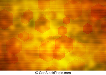 Abstract hex shapes background