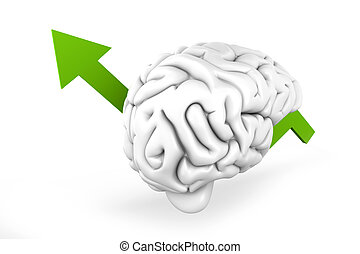 Growing Intelligence - Growing intelligence 3D Illustration...