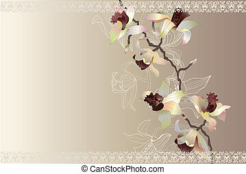 card with orchid