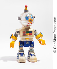 Toy robot - Cute retro mechanical automated plastic toy...