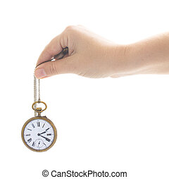 time concept with antique clock