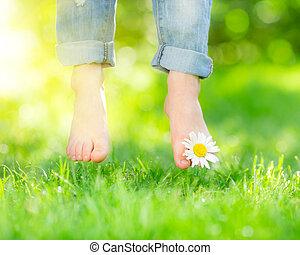saudável, pés