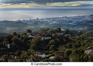Fuengirola - A view from behind andfrom high of Fuengirola...