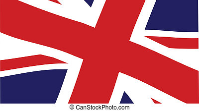 Union Jack Close Up - The British Union Jack flag fluttering...