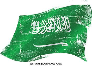 Saudi Arabia grunge flag - A grunge Saudi Arabian flag for...