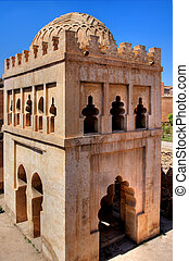 HDR-picture of Almoravid Koubba - Almoravid Koubba in old...