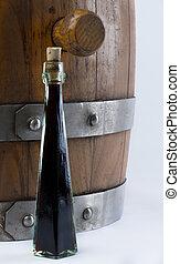 vinegar bottle - balsamic vinegar bottle isolated with a...