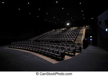 Cinema Interior - The interior of a cinema auditorium...