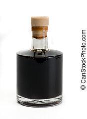 vinegar bottle - balsamic vinegar bottle isolated on white