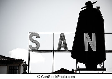 Porto, Portugal - January 21, 2013: Sandeman Advertising...
