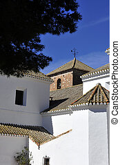 Andalucian Church and village Spain - A typical Spanish...