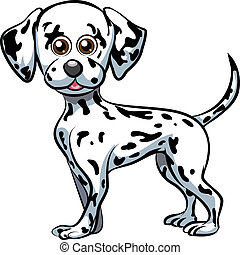 Dalmatian - Funny illustration with cute dalmatian puppy...