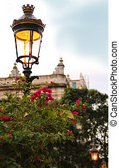Park street light in Havana, Cuba - Classic ornamental...