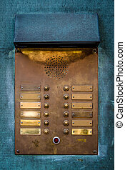 Vintage Brass Intercom Buzzer - Retro Vintage Apartment...