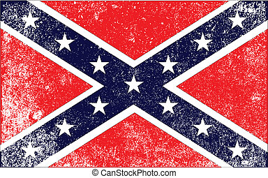 Confederate Civil War Flag - The flak of the confederates...