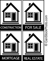 set home for sale, construction and mortgage - set home icon...