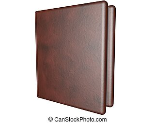Book - Leather book isolated over white, 3d render
