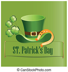 saint patrick's day - a green background with some text and...