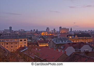 Zagreb cityscape, Croatia