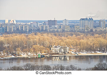 View of Dnieper river, Kiev, Ukraine