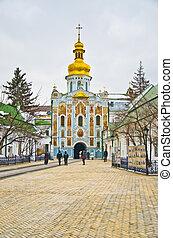 berühmt, Pechersk, Lavra, kloster, kiev, Ukraine