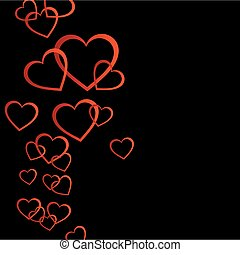 Floating red hearts background