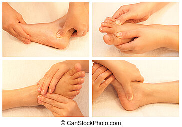 massage collection - Collection of reflexology foot massage