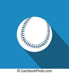 Baseball - abstract baseball ball on a special background