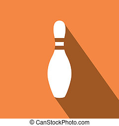 Bowling pins - abstract bowling pins on a special background