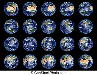 Earth Globes collection - Big Earth Globes collection, high...