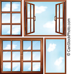 Different window designs - Illustration of the different...