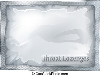 A pack of throat lozenges - Illustration of a pack of throat...