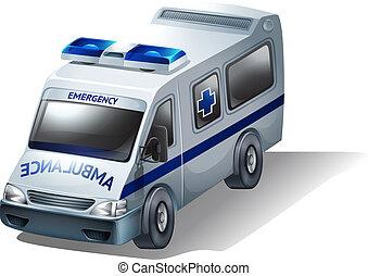 An emergency ambulance