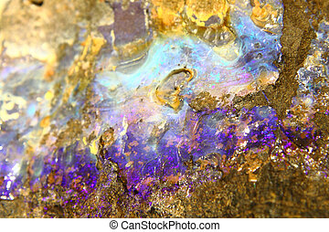 mineral opal background - detail of mineral opal texture as...
