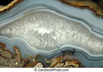 detalhe, mineral, ágata, fundo